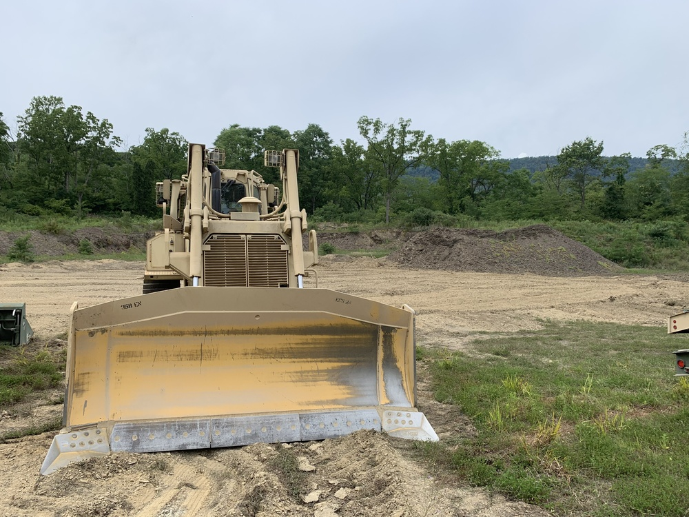 316th ESC's 947th QM CO Horizontal Engineers Prepare Area for Construction
