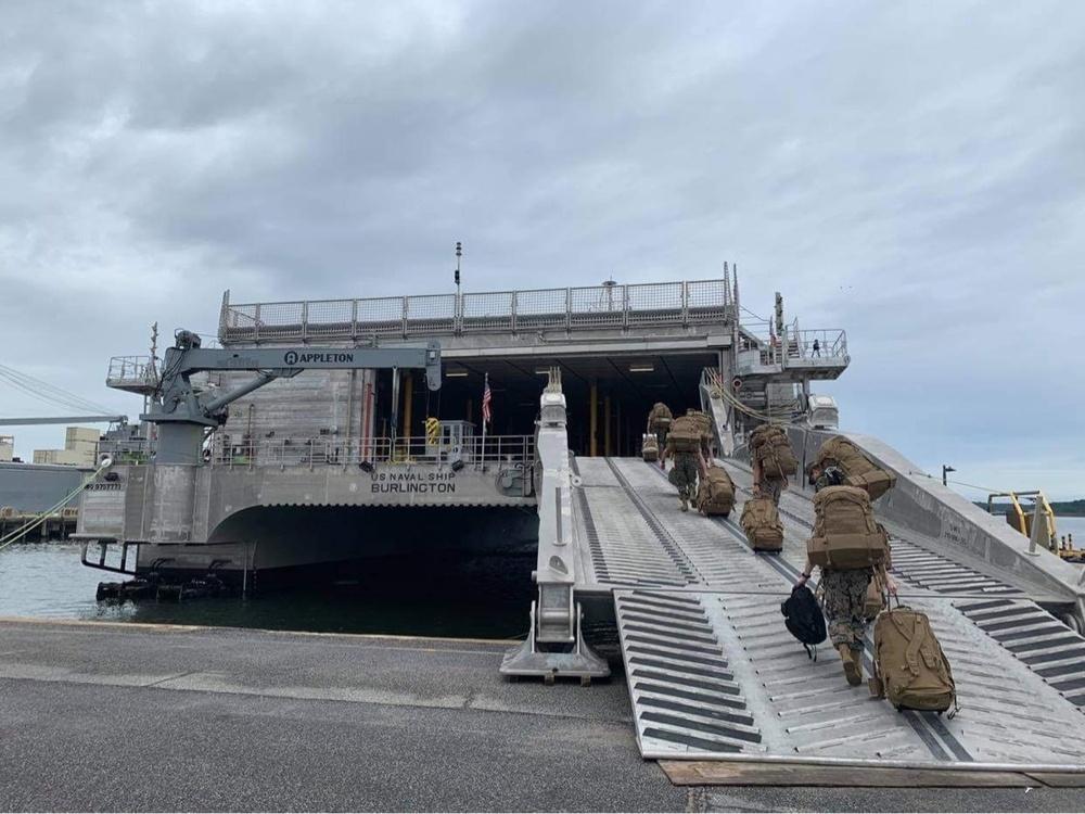 Task force Marines integrate with Navy, provide security aboard USNS Burlington