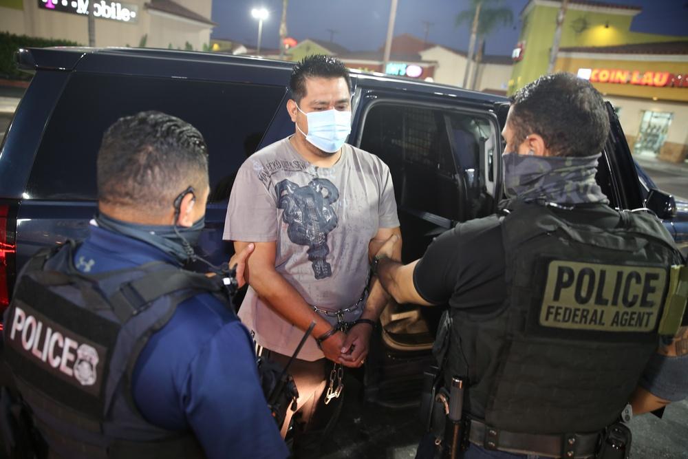 ICE ERO in Los Angeles arrests criminal aliens in targeted enforcement operation