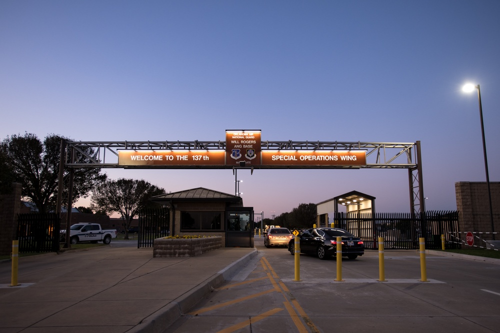 Modifications Made to the Main Gate for Will Rogers Air National Guard Base