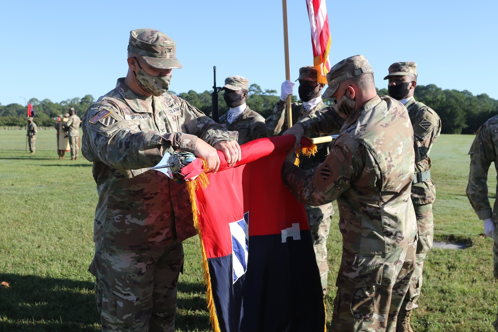 1st Armored Brigade Combat Team Cases Colors for Deployment to Korea