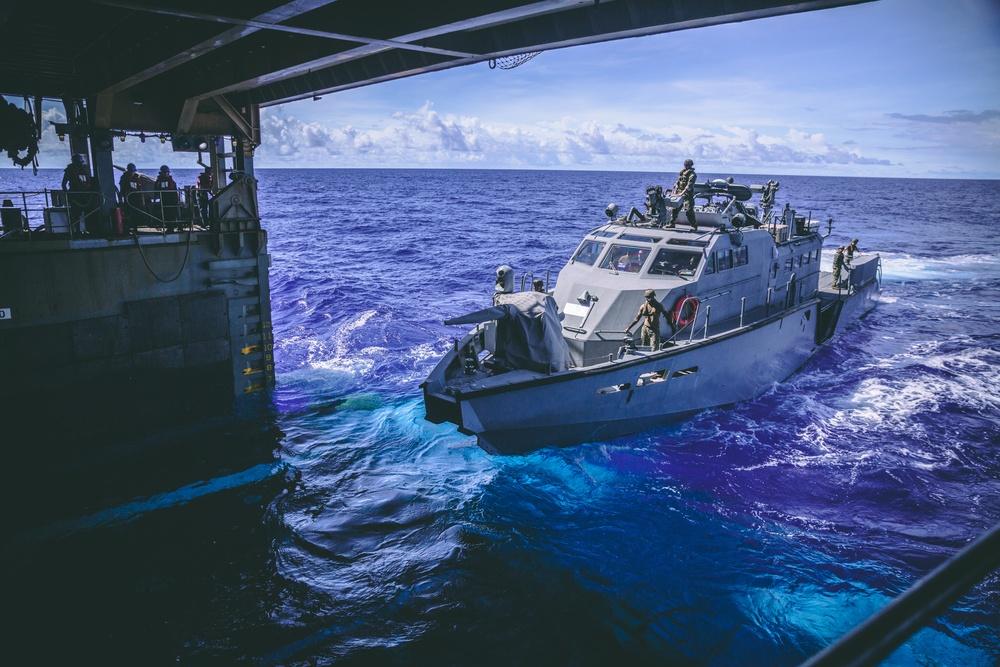 USS Comstock (LSD 45) | Patrol Boat Mk VI Integration