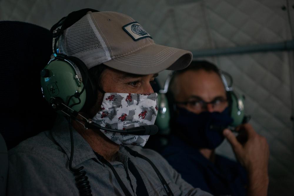 Coast Guard conducts overflight following Hurricane Delta