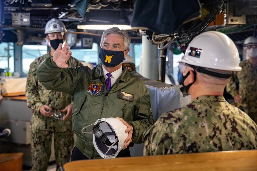 Secretary of the Navy Tours USS Milius (DDG 69)