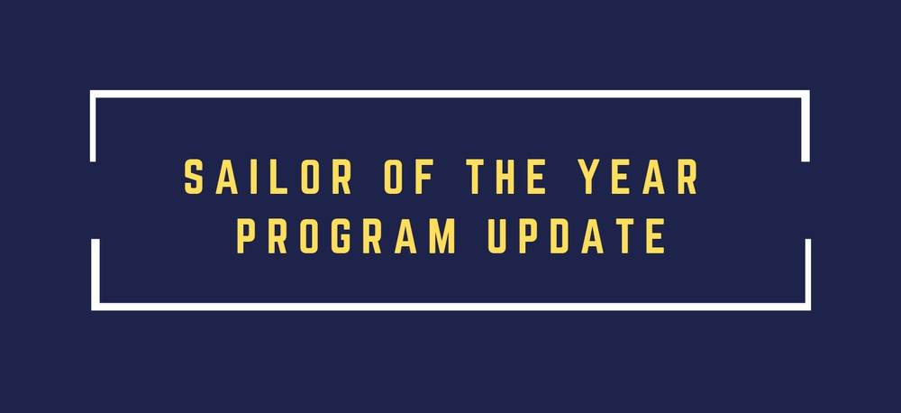 Sailor of the Year Program Update