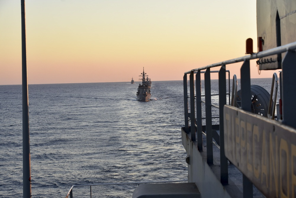 USNS Tippecanoe (T-AO 199) Conducts Underway Replenishments with Japan Maritime Self-Defense Force and Royal Canadian Navy
