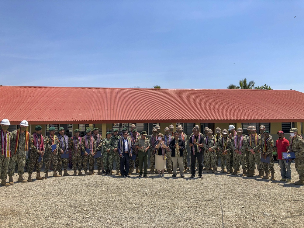 U.S. Navy Seabees Finish Construction of Schoolhouse in Timor-Leste