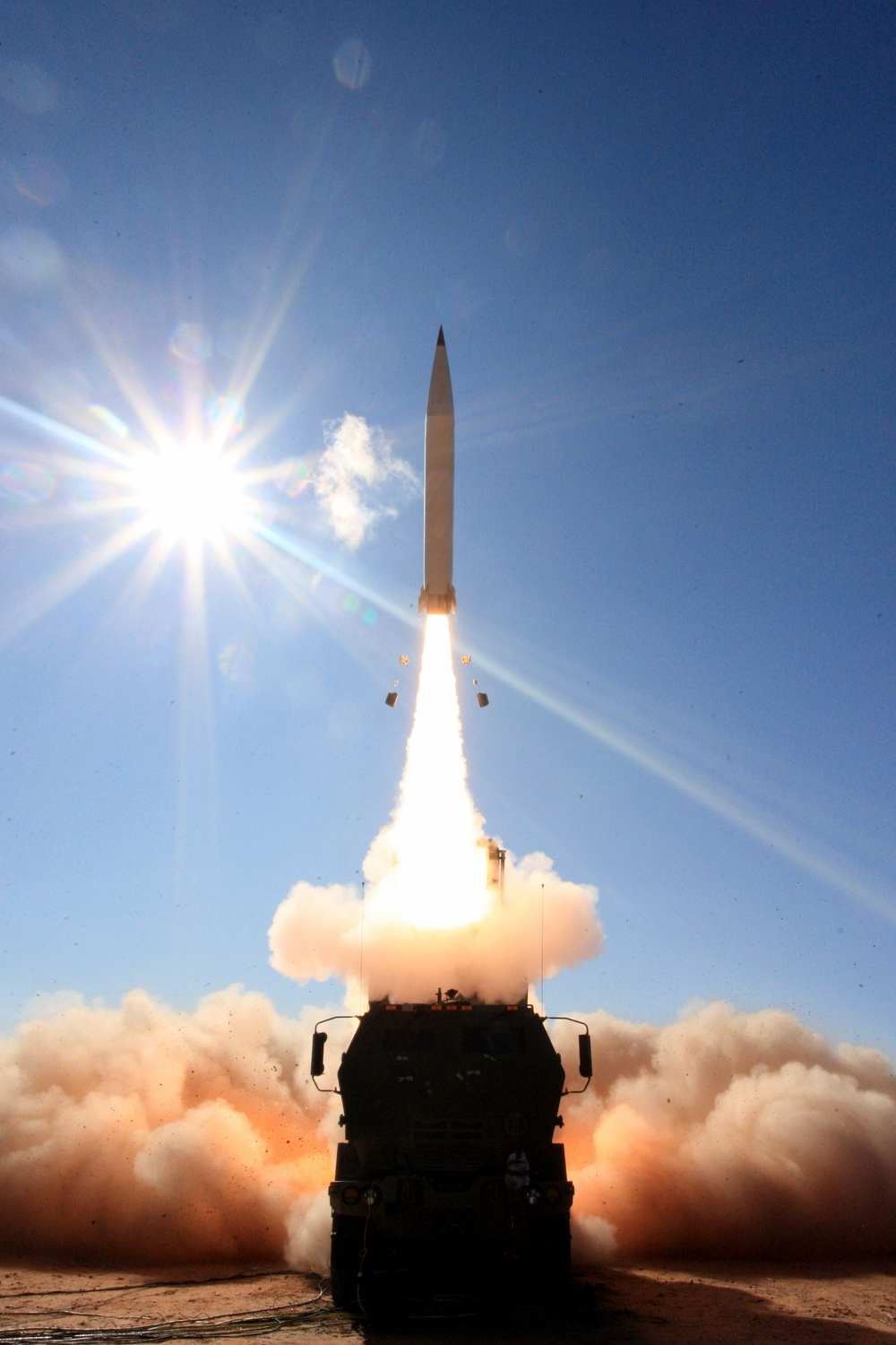 Precision Strike Missile Fires from a HIMARS Launcher