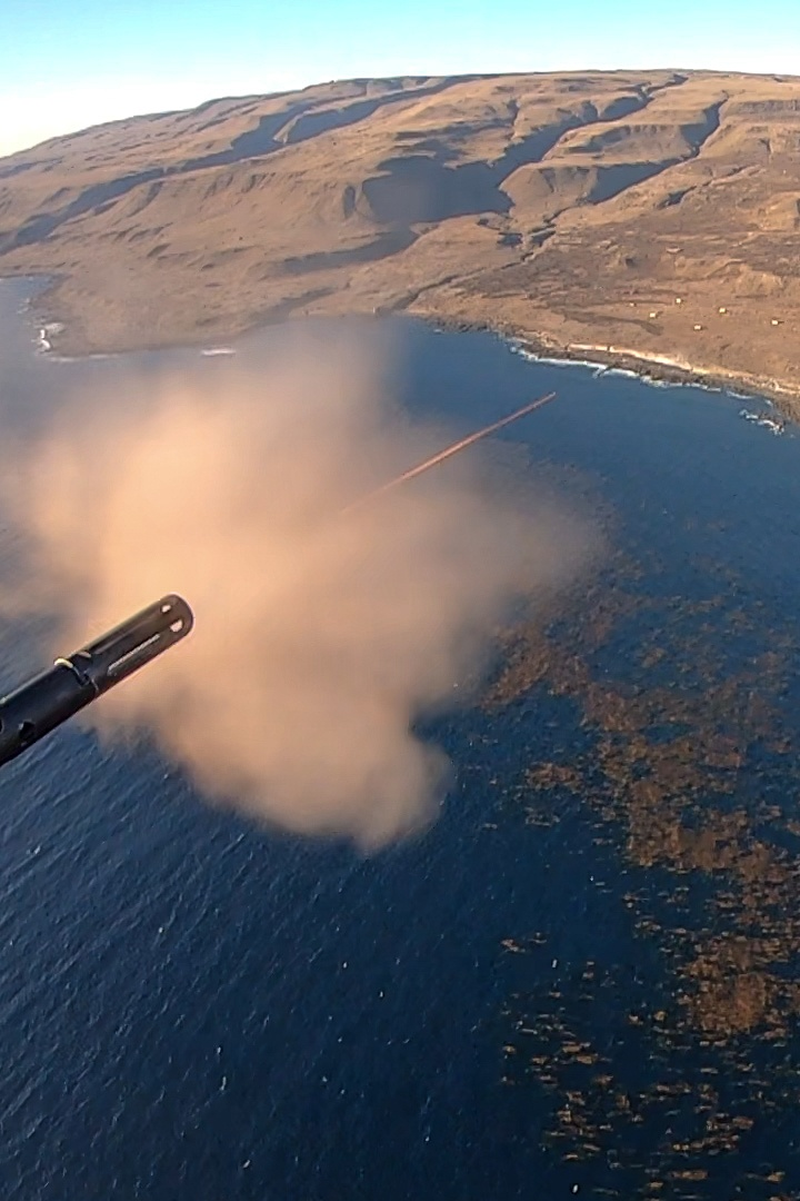 VMM-164 (Rein) Marines, Sailor conduct close-air support training at San Clemente Island