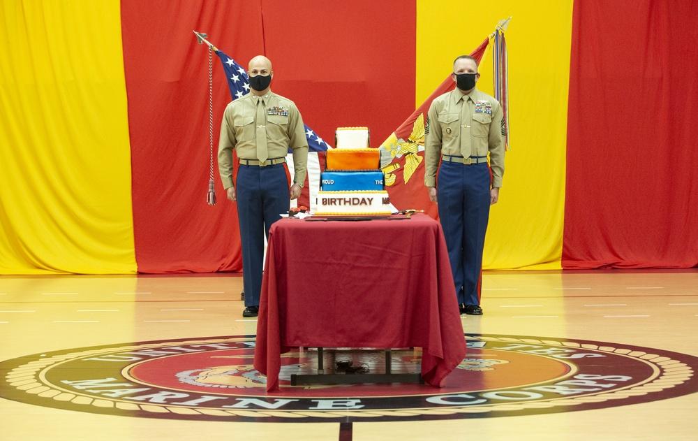 Fleet Marine Force Atlantic, U.S. Marine Corps Forces Command, and Headquarters and Service Battalion 245th Birthday Celebration