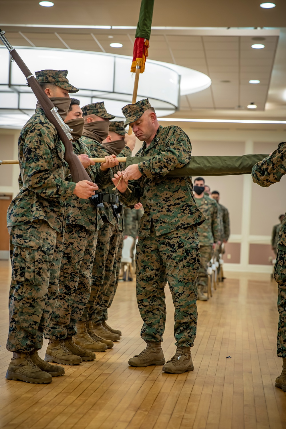 Task force Marines hold closing ceremony for crisis response deployment