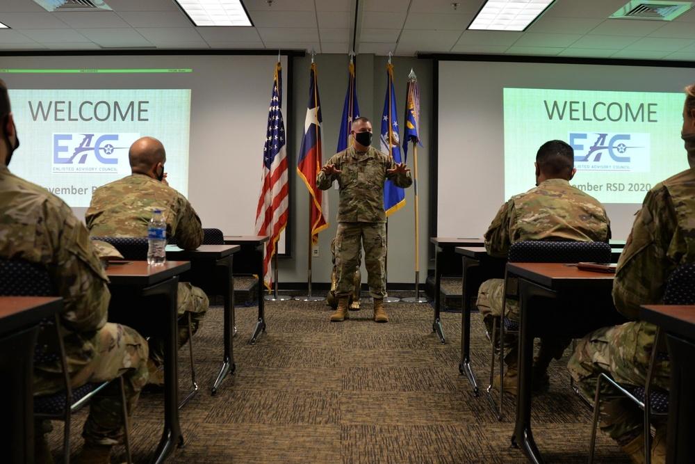 Enlisted leadership regards 136AW Citizen Airmen's input