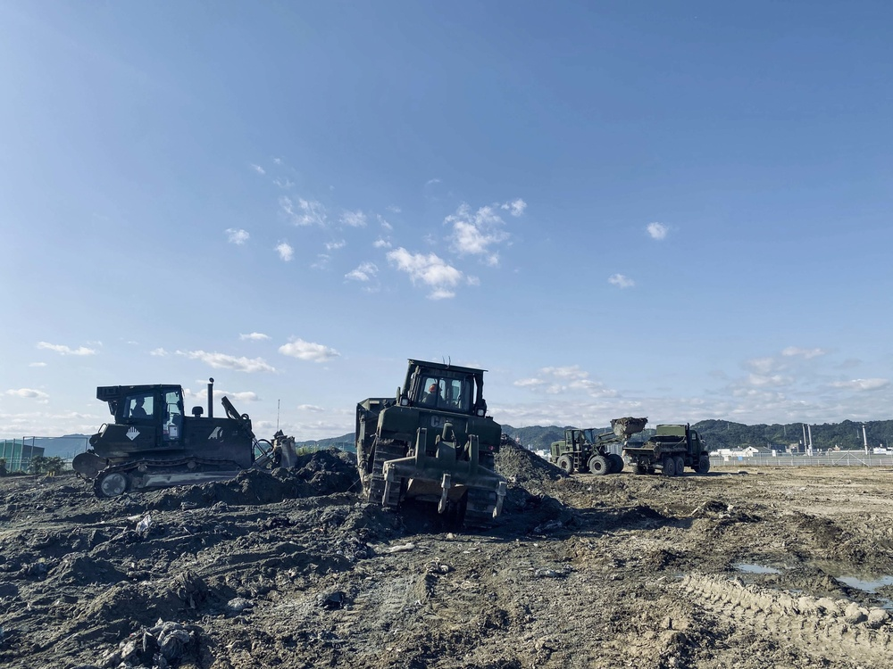 Seabees, Marines Support MCAS Iwakuni Landfill Capping Project