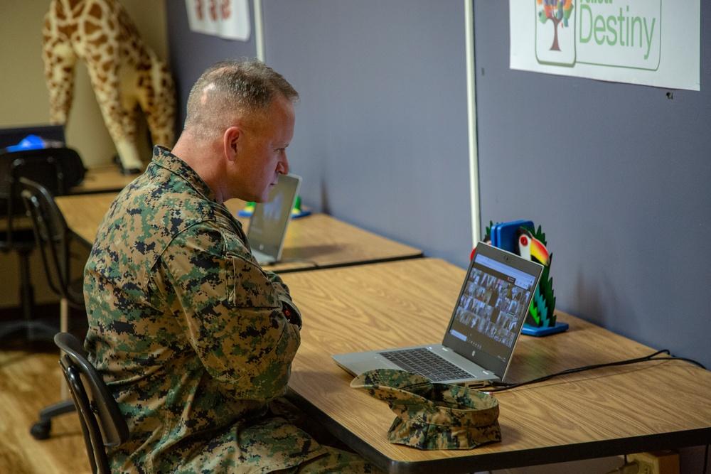 MCIEAST-MCB Camp Lejeune Deputy Commander visits Tarawa Terrace Elementary School