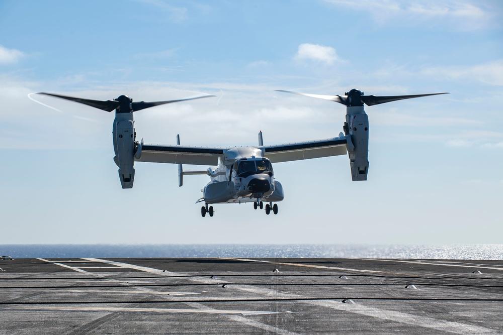Navy Ospreys 1st Aircraft Carrier Landing