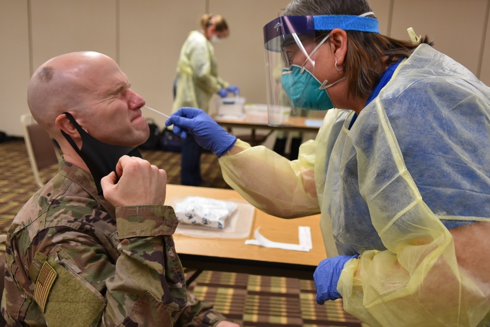96th Medical Group gets fitted for N95 Mask and COVID-19 tested