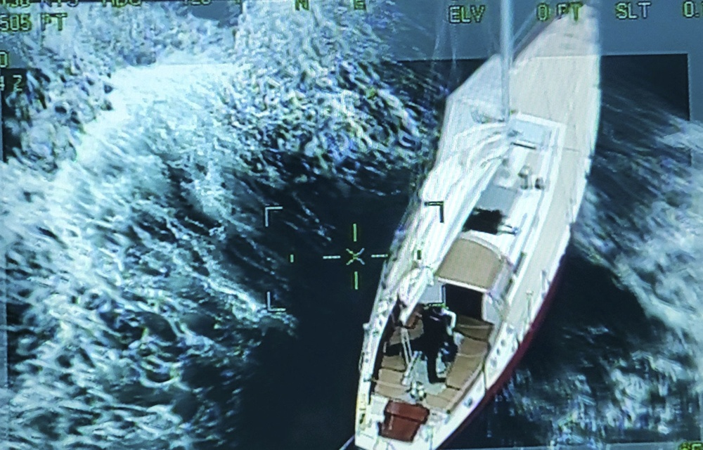 Coast Guard coordinates rescue of 2 from sailboat disabled in rough weather
