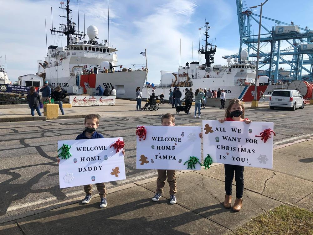 Coast Guard Cutter Tampa crewmembers return home following 57-day Caribbean patrol