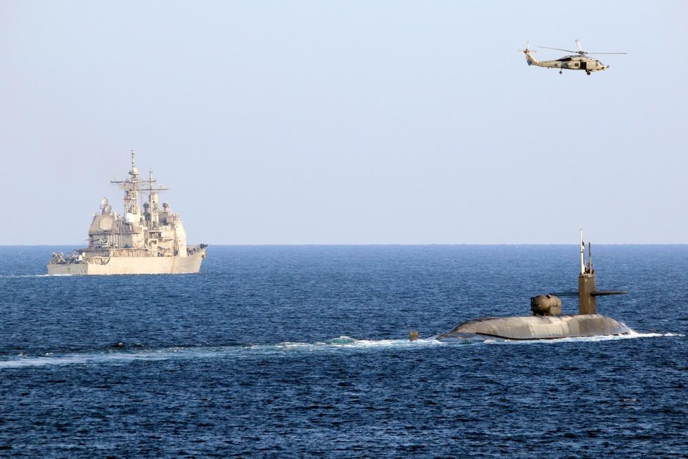 USS Georgia Transits Strait of Hormuz