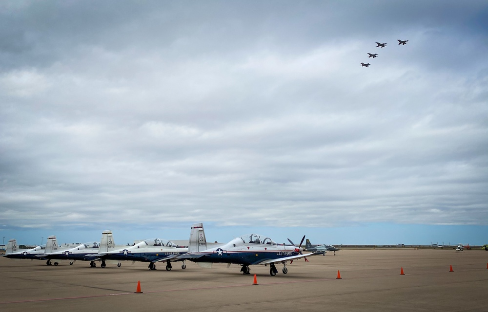 457 FS Flies Over Opening Ceremony for Fort Worth Airshow
