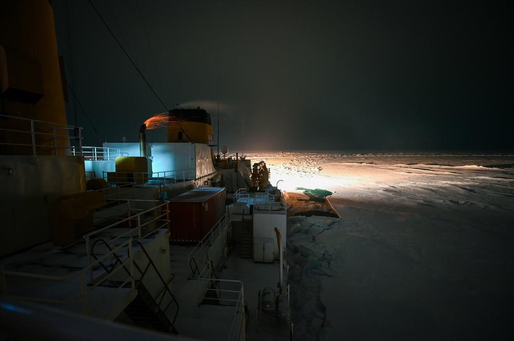 Coast Guard Cutter Polar Star Arctic Winter West 2021