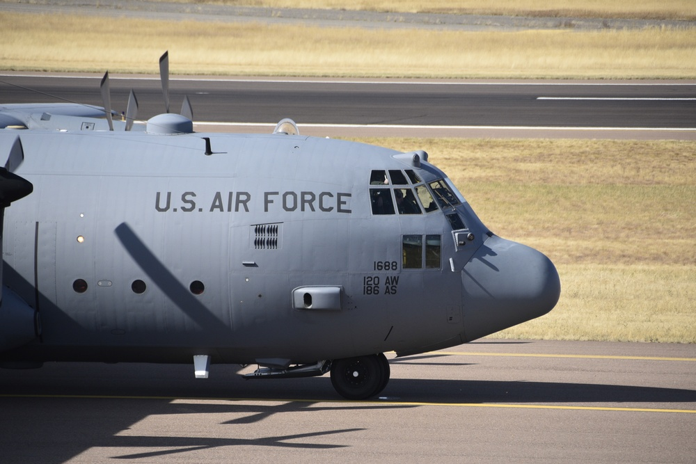120th Airlift Wing 6-ship formation of C-130Hs