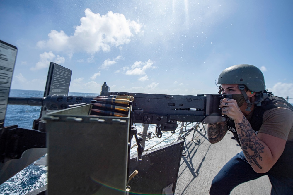 Sterett Sailors Participate in a Live-Fire Exercise