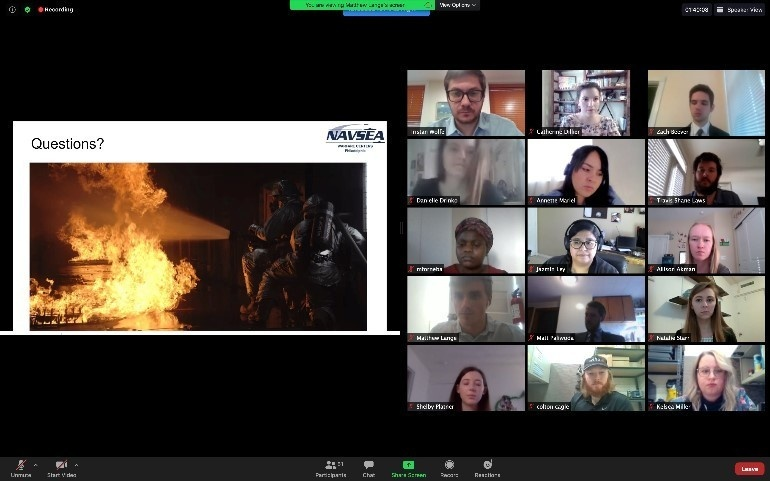 NSWCPD's Naval Research Enterprise Internship Program Participants Provide Virtual Presentations