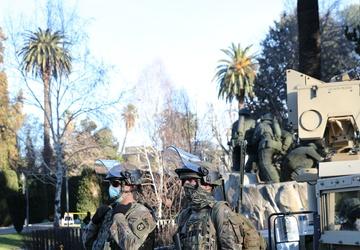 California National Guard patrols Capitol Park