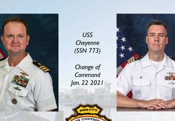 USS Cheyenne Conducts Change of Command