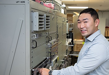 Division Newport engineer addresses signal systems for the Navy, RI Army National Guard