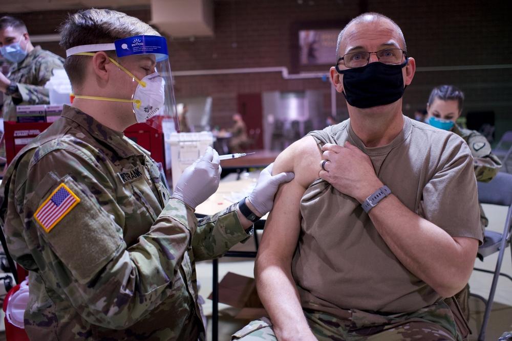 Alaska Army National Guardsmen get COVID-19 vaccine