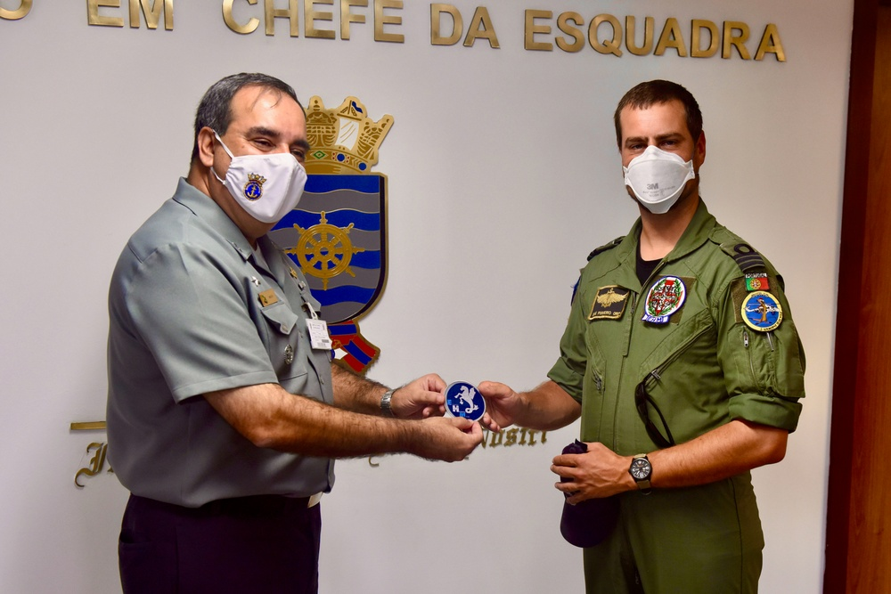 Patch exchange with Brazilian navy