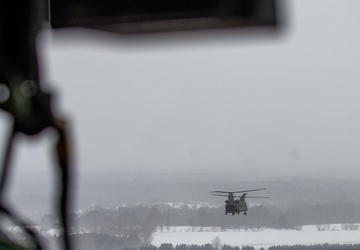 Marines train with Air National Guard in frigid Michigan weather