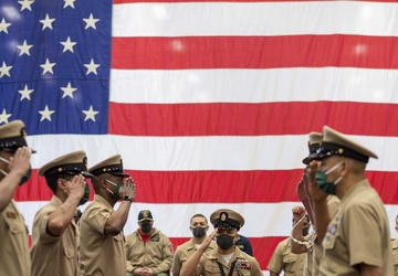 USS America (LHA 6) Chiefs Pinning Ceremony 2021