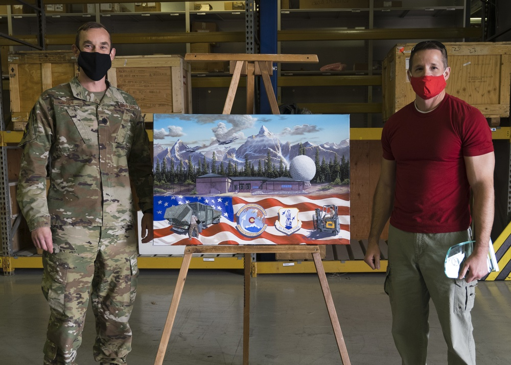 Local artist donates artwork to 140th LRS