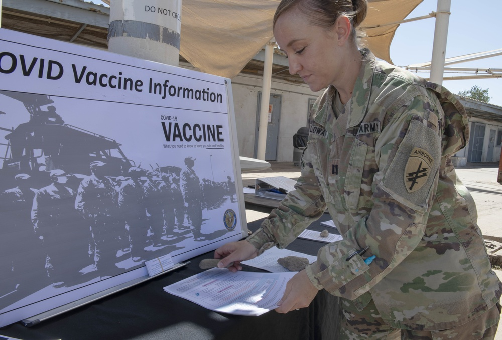 CLDJ Medical Professionals Host Vaccine Information Booth