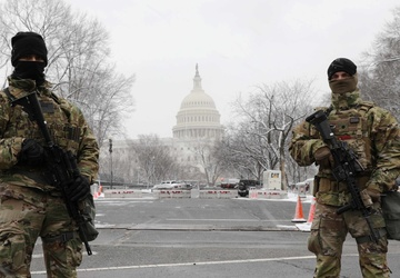 New York National Guard Soldiers arrive in Washington for Capitol Response