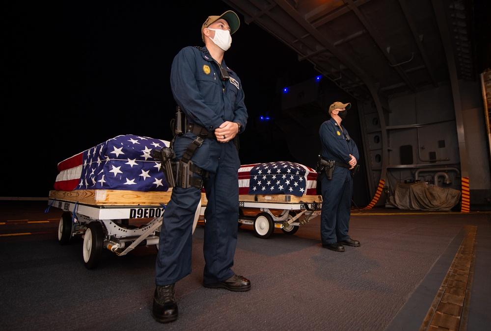 USS Carl Vinson (CVN 70) Conducts a Burial at Sea Ceremony