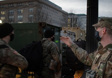 Michigan National Guard Chemical Soldier in Washington D.C.