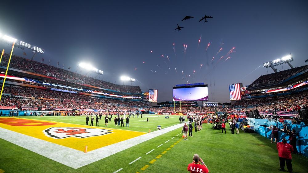 Bomber trifecta perform flyover at Super Bowl LV