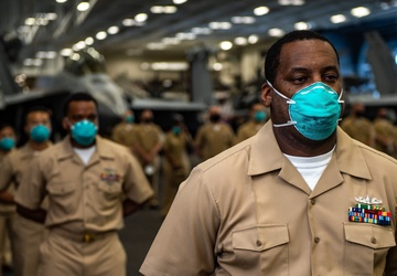 USS Carl Vinson (CVN 70) Conducts a Pinning Ceremony for New Chief Petty Officers
