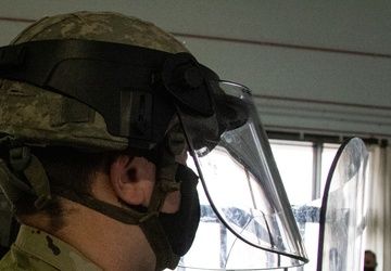 258th Field Artillery Trains for MP Mission in DC