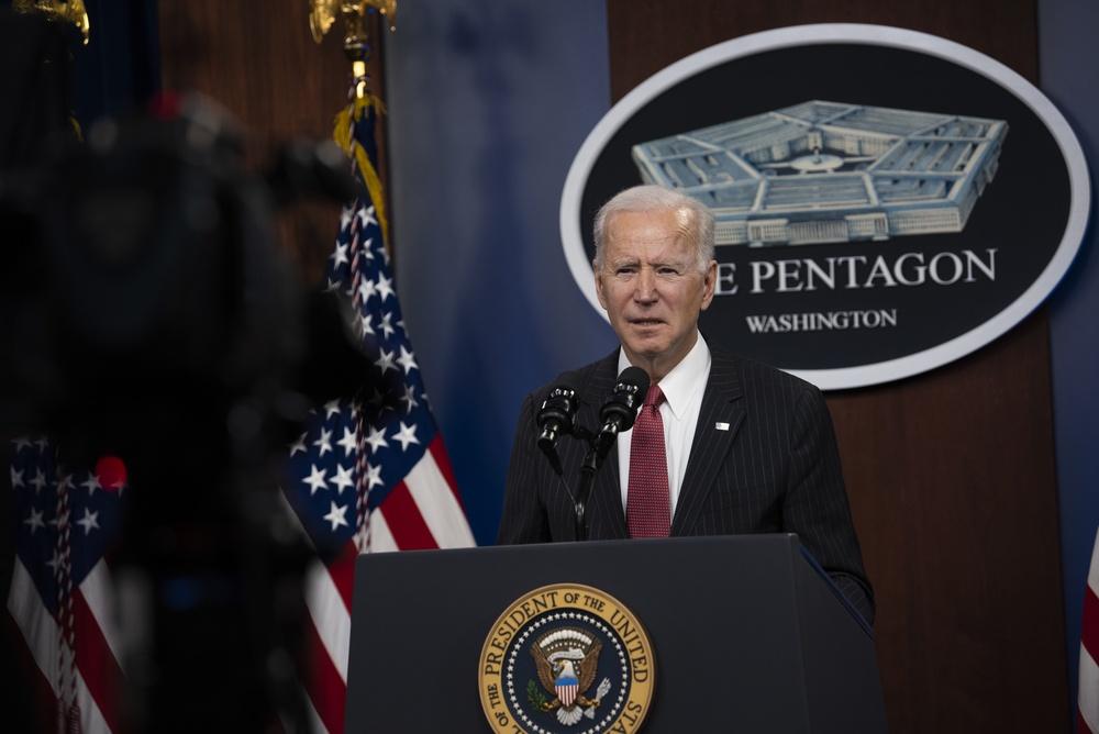 President Biden, Vice President Harris Visit Pentagon