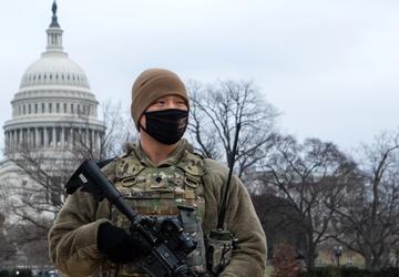 Spc. Kyle Moore Guards US Capitol Building