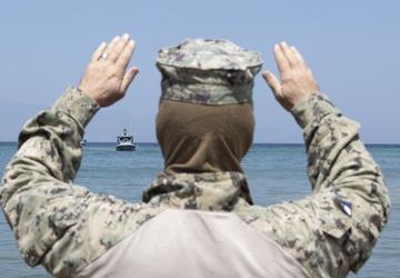 MSRON 8 Sailors Conduct Training in Gulf of Tadjoura