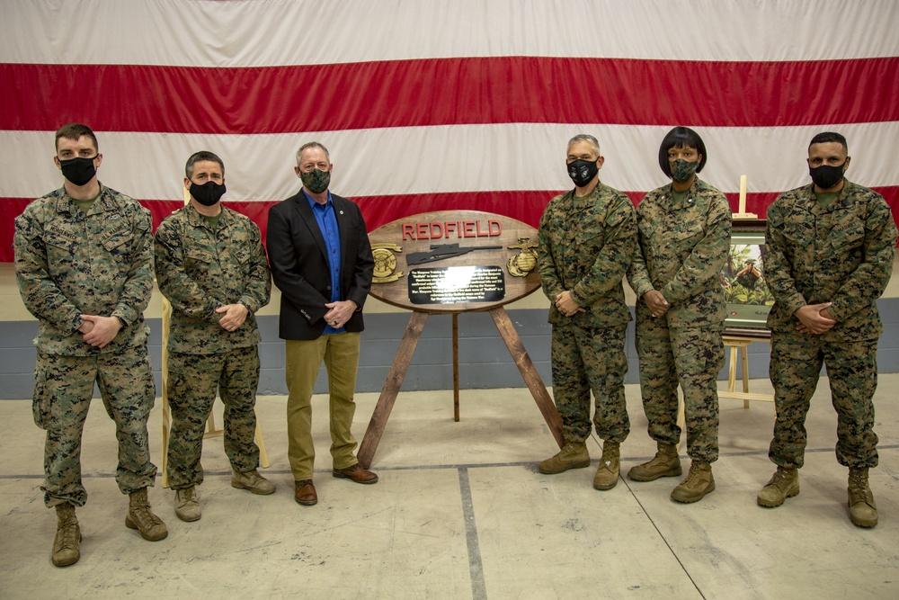 "WTBN establishes call word ""Redfield"" for battalion firing desk during renaming ceremony"