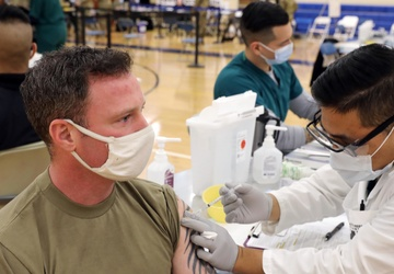 NY National Guard Soldiers receive COVID-19 vaccine while on mission in Washington, D.C.