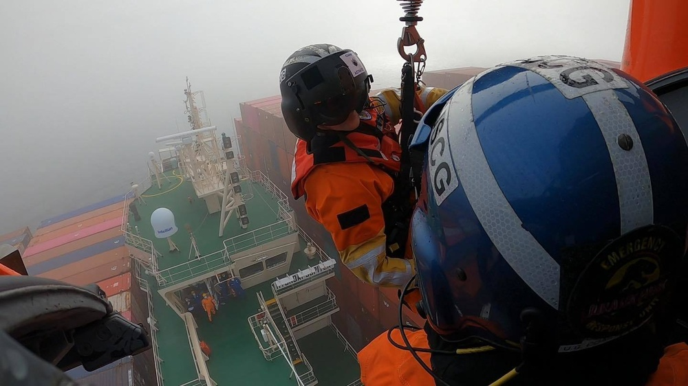Coast Guard battles weather to rescue injured sailor 46-miles off coast