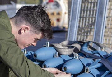 Marines train to drop bombs at a moment's notice